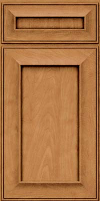 Square Recessed Panel - Solid (AB6M) Maple in Ginger w/Sable Glaze - Base