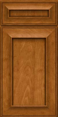 Square Recessed Panel - Solid (AB6M) Maple in Golden Lager - Base
