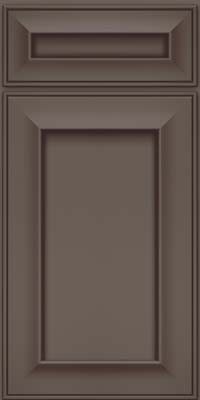 Square Recessed Panel - Solid (AB6M) Maple in Greyloft w/ Sable Glaze - Base