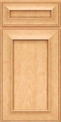 Square Recessed Panel - Solid (AB6M) Maple in Honey Spice - Base