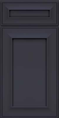 Square Recessed Panel - Solid (AB6M) Maple in Midnight - Base