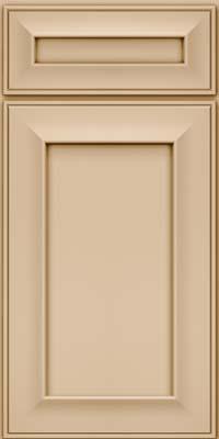 Square Recessed Panel - Solid (AB6M) Maple in Mushroom - Base