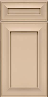 Square Recessed Panel - Solid (AB6M) Maple in Mushroom w/Cocoa Glaze - Base