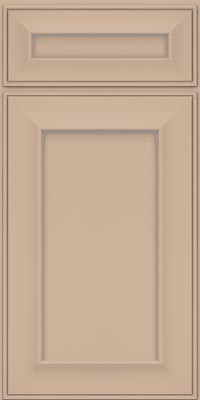 Square Recessed Panel - Solid (AB6M1) Maple in Mushroom w/Coconut Glaze - Base