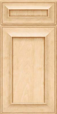 Square Recessed Panel - Solid (AB6M) Maple in Natural - Base
