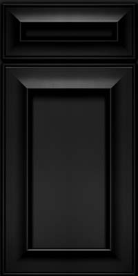 Square Recessed Panel - Solid (AB6M) Maple in Onyx - Base