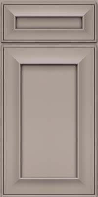 Square Recessed Panel - Solid (AB6M) Maple in Pebble Grey - Base