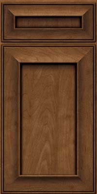 Square Recessed Panel - Solid (AB6M) Maple in Rye w/Onyx Glaze - Base