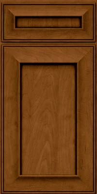 Square Recessed Panel - Solid (AB6M) Maple in Rye w/Sable Glaze - Base