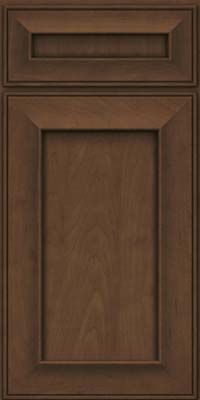 Square Recessed Panel - Solid (AB6M) Maple in Saddle Suede - Base