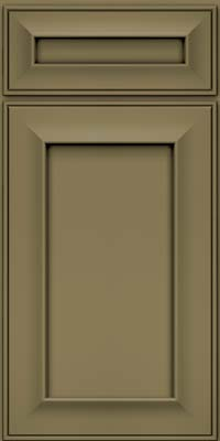 Square Recessed Panel - Solid (AB6M) Maple in Sage - Base