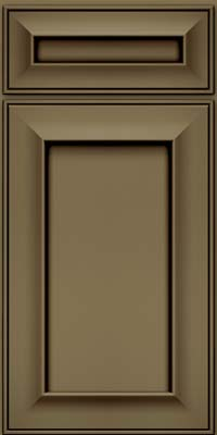 Square Recessed Panel - Solid (AB6M) Maple in Sage w/Cocoa Glaze - Base