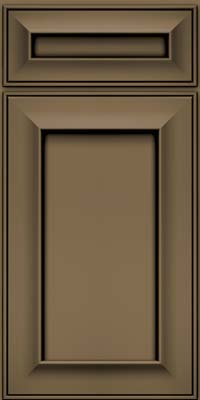 Square Recessed Panel - Solid (AB6M) Maple in Sage w/Onyx Glaze - Base