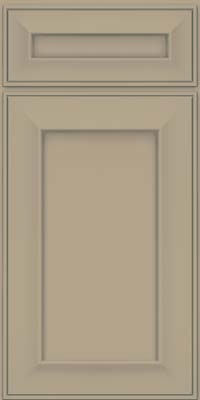 Square Recessed Panel - Solid (AB6M) Maple in Willow w/ Cinder Glaze - Base