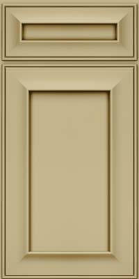 Square Recessed Panel - Solid (AB6M) Maple in Willow w/Cocoa Glaze - Base