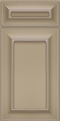 Square Recessed Panel - Solid (AB6M1) Maple in Willow w/Coconut Glaze - Base