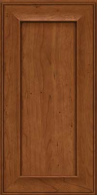 Square Recessed Panel - Solid (AB6C) Cherry in Antique Chocolate w/Mocha Glaze - Wall