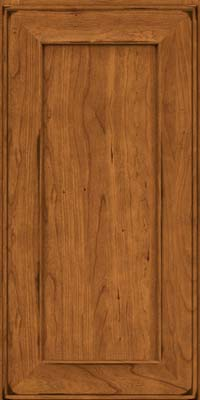 Square Recessed Panel - Solid (AB6C) Cherry in Burnished Golden Lager - Wall