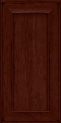 Square Recessed Panel - Solid (AB6C) Cherry in Burnished Cabernet - Wall