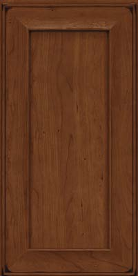 Square Recessed Panel - Solid (AB6C) Cherry in Burnished Chocolate - Wall
