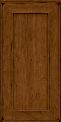 Square Recessed Panel - Solid (AB6C) Cherry in Burnished Ginger - Wall