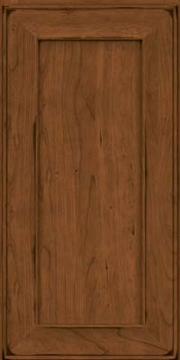 Square Recessed Panel - Solid (AB6C) Cherry in Burnished Rye - Wall