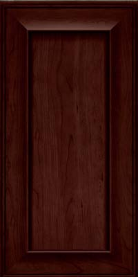 Square Recessed Panel - Solid (AB6C) Cherry in Cabernet - Wall
