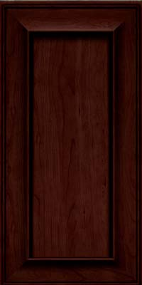 Square Recessed Panel - Solid (AB6C) Cherry in Cabernet w/Onyx Glaze - Wall