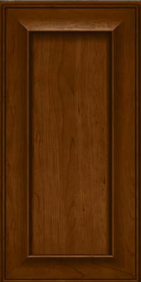 Square Recessed Panel - Solid (AB6C) Cherry in Chocolate - Wall