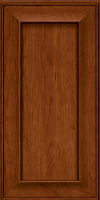 Square Recessed Panel - Solid (AB6C) Cherry in Cinnamon - Wall