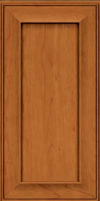 Square Recessed Panel - Solid (AB6C) Cherry in Honey Spice - Wall