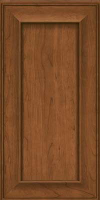 Square Recessed Panel - Solid (AB6C) Cherry in Rye - Wall