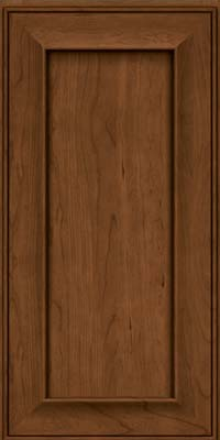 Square Recessed Panel - Solid (AB6C) Cherry in Rye w/Sable Glaze - Wall