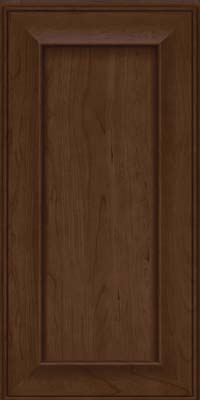 Square Recessed Panel - Solid (AB6C) Cherry in Saddle Suede - Wall