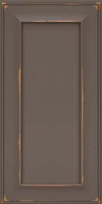 Square Recessed Panel - Solid (AB6C) Cherry in Vintage Greyloft w/ Sable Patina - Wall