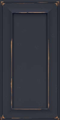 Square Recessed Panel - Solid (AB6C) Cherry in Vintage Midnight w/ Onyx Patina - Wall