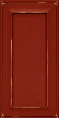 Square Recessed Panel - Solid (AB6C) Cherry in Vintage Cardinal - Wall