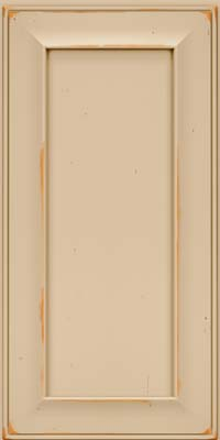 Square Recessed Panel - Solid (AB6C) Cherry in Vintage Mushroom - Wall