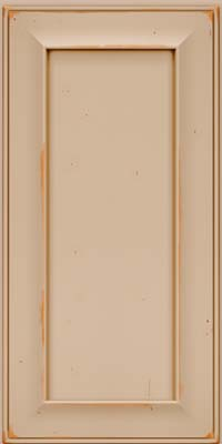 Square Recessed Panel - Solid (AB6C) Cherry in Vintage Mushroom w/Cocoa Patina - Wall