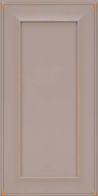 Square Recessed Panel - Solid (AB6C) Cherry in Vintage Pebble Grey - Wall