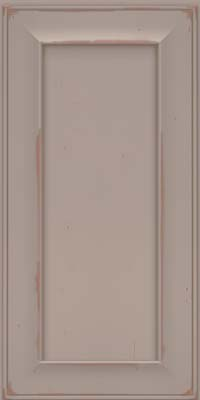 Square Recessed Panel - Solid (AB6C) Cherry in Vintage Pebble Grey w/ Cocoa Patina - Wall