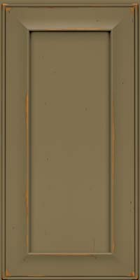 Square Recessed Panel - Solid (AB6C) Cherry in Vintage Sage - Wall