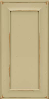 Square Recessed Panel - Solid (AB6C) Cherry in Vintage Willow - Wall