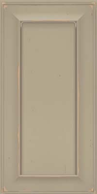 Square Recessed Panel - Solid (AB6C) Cherry in Vintage Willow w/ Cinder Patina - Wall