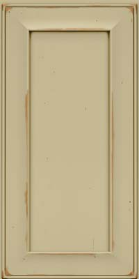Square Recessed Panel - Solid (AB6C) Cherry in Vintage Willow w/Cocoa Patina - Wall