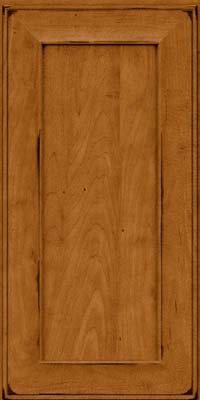 Square Recessed Panel - Solid (AB6M) Maple in Burnished Golden Lager - Wall