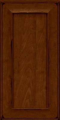 Square Recessed Panel - Solid (AB6M) Maple in Burnished Chestnut - Wall