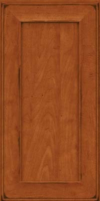 Square Recessed Panel - Solid (AB6M) Maple in Burnished Cinnamon - Wall