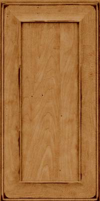 Square Recessed Panel - Solid (AB6M) Maple in Burnished Ginger - Wall