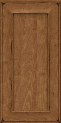 Square Recessed Panel - Solid (AB6M) Maple in Burnished Rye - Wall